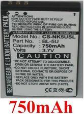 Batería 750mAh tipo BL-5U Para Nokia 8800E, Nokia 8900E, Nokia 8900i