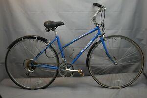 "Schwinn Traveler Vintage Hybrid Bike 1986 17"" Medium Chromoly Steel US Charity!!"
