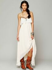 NEW Free People white gauzy GYPSY HEART maxi dress M