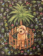 Goldendoodle Giclee Print on Canvas from My Original Art 16 x20� New