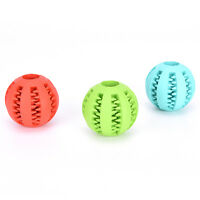 Rubber Ball Dog Chew Toy Chewing Ball Pet Toys Ball Tooth Cleaning Balls Food KW