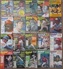 VINTAGE BASEBALL DIGEST LOT OF 20 MAGAZINES FROM 1974-1976 MLB
