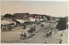 AZ Postcard Yuma Arizona 4th of July Parade street scene M. Rieder hand colored