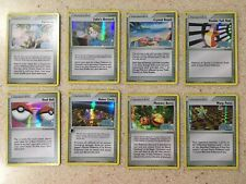 Nintendo Pokemon EX Crystal Guardians 8 Trainer Reverse Holo Cards Lot #5