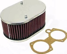 WEBER 48, 50 & 55 DCO/SP TWIN CARBS K&N AIR FILTER ASSEMBLY (83mm DEEP)