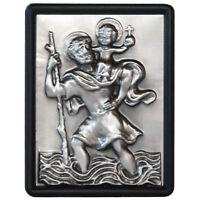 Christophorus 3D Relief Plakette XL 72 mm zum festschrauben Heiliger Sankt St