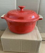 Le Creuset Stoneware Casserole Dish With Lid 22cm Red