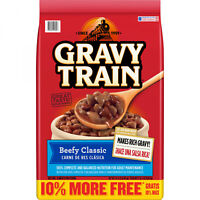 15.4lbs Beefy Dry Dog Food Bag Gravy Train Classic Balanced Crunchy Snack Treats