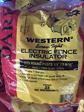Western Screw Tight Electric Fence Insulator