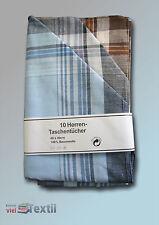 Herren Stofftaschentuch 10 Stück Herrentaschentuch Schnupftuch Nastuch