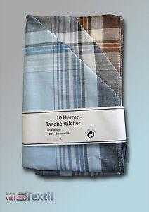 Men's Stofftaschentuch 10 Piece Herrentaschentuch Schnupftuch Nastuch
