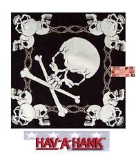 SKULL&CROSSBONES Barbed Barb Wire Biker Bandana BANDANNA SCARF Scarve Head Wrap