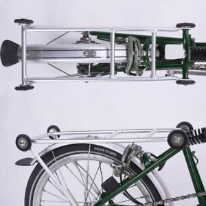 Complete Rack Set for BROMPTON (Rack + 4 wheels) SILVER
