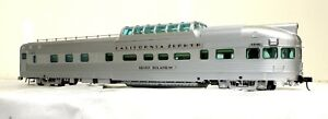 "Atlas California Zephyr Dome-Obs Car ""Silver Solarium""  - O Scale, 2-Rail"