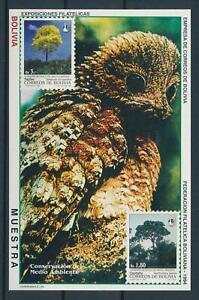 [105997] Bolivia 1994 Protect environment Bird owl tree Muestra sheet MNH
