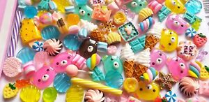 5/10/20/50pc mixed candy and kawaii cabochons DECODEN crafts