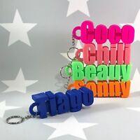 Personalised LARGE Keyring Keychain - 3D Printed - School Bag - Party Bag