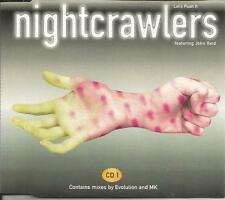 John Reid NIGHTCRAWLERS Let's Push it 6 TRX MIXES & EDUB & EDIT CD single SEALED