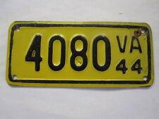 RARE 1944 Virginia FIBERBOARD MOTORCYCLE License Plate Tag