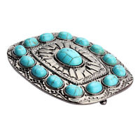 Bohe Turquoise Belt Buckle Western Buckles for Women and Men Larger Size