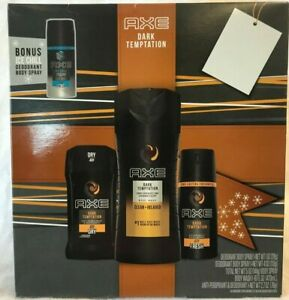 Axe Dark Temptation Body Spray, Deodorant, Body Wash &1 oz Ice Chill Free Ship