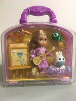 "Disney Animators' Collection Rapunzel Mini Doll Play set 5"" w/Glitter Handle NEW"