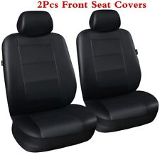 High Quality Universal PU Leather Car Seat Covers - Black Front 2pcs Full Set