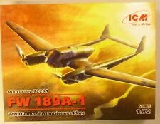 ICM 1/72 FW 189A-1 WWII German Reconnaissance Plane Model Kit 72291