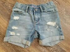 Girls' Childrens Place Jean Shorts Distressed Light Wash Size 6 EXCELLENT 4""