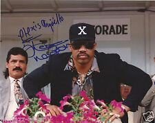 RARE image Ken Norton & Alexis Arguello RARE full name signed 8x10 HOF Boxing