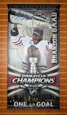 Brandon Saad Chicago Blackhawks signed Stanley Cup Champs street banner B