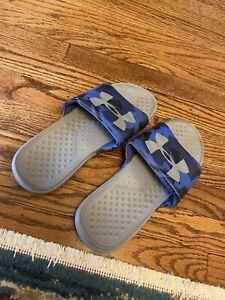 Under Armour Underarmour Slides USA Mens sz 7 Sandals Blue