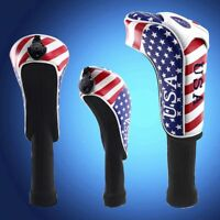 Long Neck Golf Driver Headcover Hybird Cover USA Flag For Taylormde Callaway New