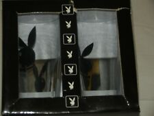 Set of 4 PLAYBOY Bunny Pint  Glasses with BOX