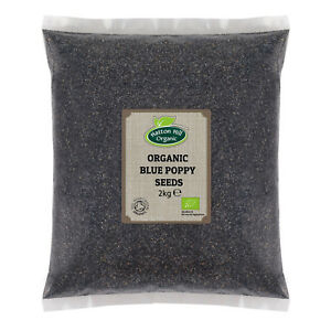 Organic Blue Poppy Seeds 2kg Certified Organic