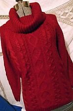 BRAND NEW V28 Womens Burgundy Red Cowl Polo Neck Sweater Lg Jumper Tags
