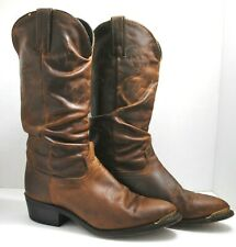 Men's Durango Western Boots Size 7 1/2 D Slouch Style Metal Toe Caps Made In USA