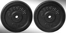 Hierro Fundido Placas para Pesas 2X 15kg Ajustada 2.5cm Barras Estándar Pesos
