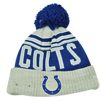 NFL New Era Winter Blaze Pom Pom Cuffed Knit Beanie Indianapolis Colts Hat Toque