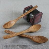 Coconut Palm Wood Cutlery Natural Wooden Coconut Spoon For Coconut Shell Bowl h