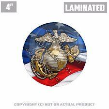 "1 Custom Thick Laminated Glossy 4"" 3M Premium Decal Sticker USMC MARINE USA FLAG"