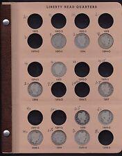 PARTIAL SET OF 43 BARBER QUARTERS IN A DANSCO ALBUM