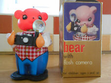Vintage  Clockwork Bear with Flash Camera Working, Key and in Original Box