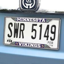 Fanmats NFL Minnesota Vikings Metal Chrome License Plate Frame Delivery 2-4 Days