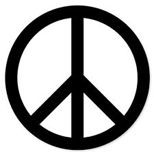 "Peace Sign liberal coexist car bumper sticker 4"" x 4"""