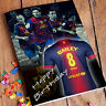 FC BARCELONA Personalised Birthday Card! FREE 1st Class Shipping! Messi Iniesta