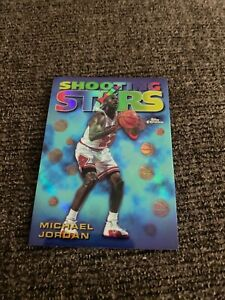 Michael Jordan 1998 Topps chrome shooting stars refractor #6