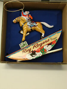 Roy Rogers and Trigger Vintage Wind Up Tin Toy Schylling