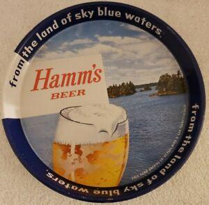 Vintage 1950s HAMMS BEER Bar Advertising Metal Serving Tray Theo Hamm Brewing Co