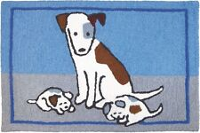 """Puppy Nap"" Area Rug 21""x33"" Indoor/Outdoor Machine Washable"